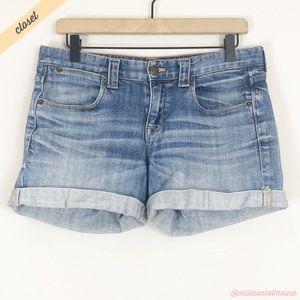 [J. Crew Factory] Distressed Cuffed Denim Shorts